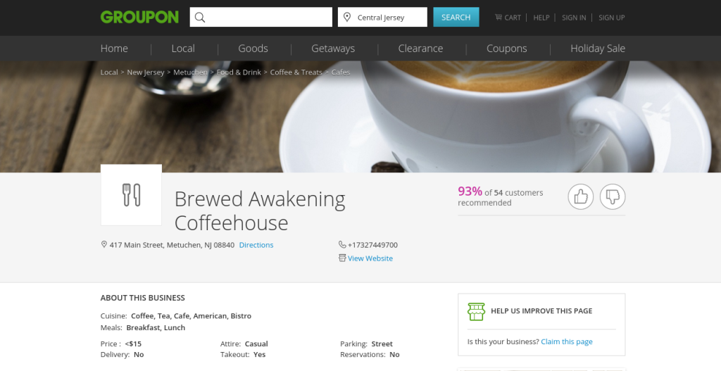 brewed awakening coffehous