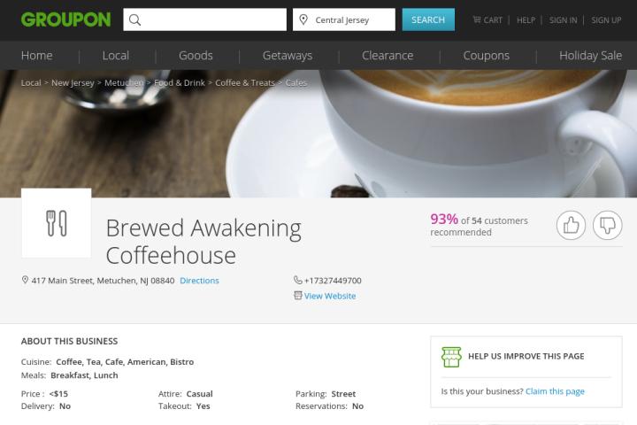 brewed awakening coffehous