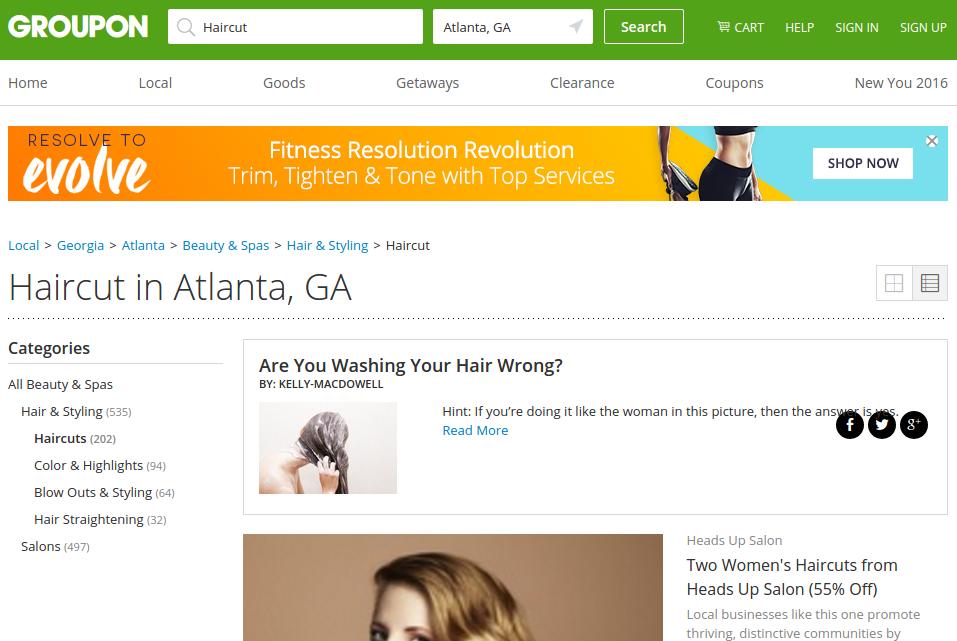 Atlanta haircusts
