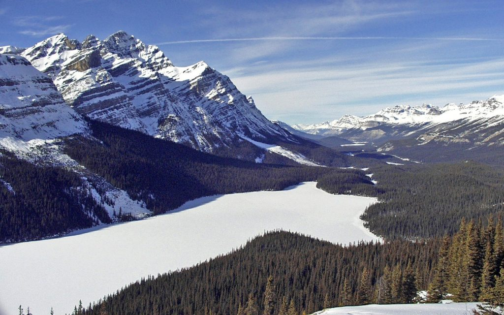 The Canadian Rockies is home to many of the Best Winter Activities in Canada